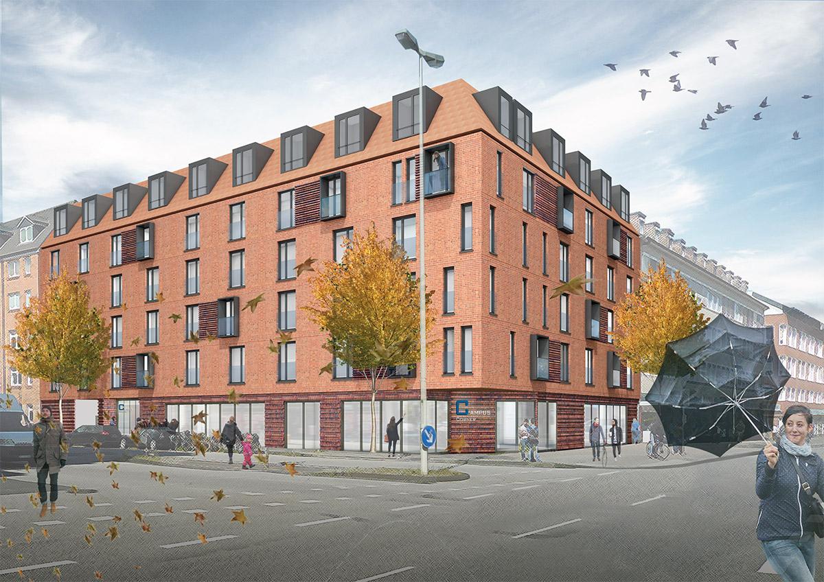 Kiel Architektur studentenwohnheim cus corner ax5 architekten